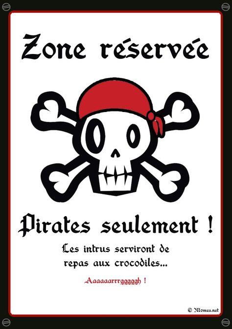 """Anniversaire pirate : la pancarte """"Pirates seulement"""" à imprimer"""