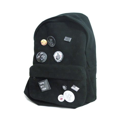 Designer Clothes, Shoes & Bags for Women Backpack With Pins, Black Backpack, Rucksack Bag, Backpack Bags, Accesorios Casual, Hiking Gear, Punk Fashion, Fashion Bags, Herschel Heritage Backpack
