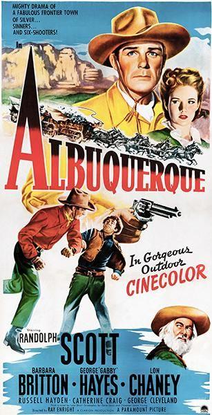 Western Union Randolph Scott vintage movie poster print