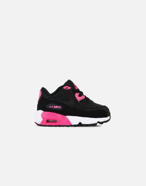 2d701dedb8ff75 Nike Air Max 90 Infant (Black Pink Prime-White)