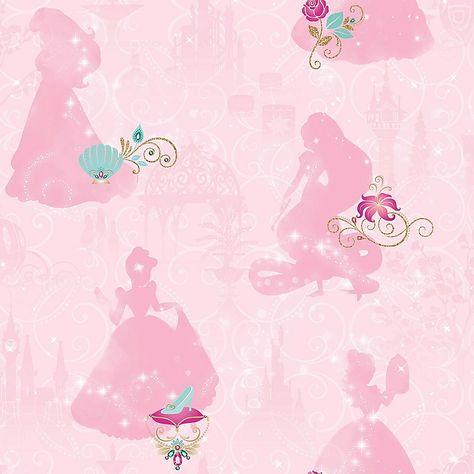 Roommates Disney Princess Peel & Stick Wallpaper In Pink