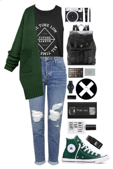 on sale 494a5 fa7f0 Lost In Stereo by ellac9914 ❤ liked on Polyvore featuring Topshop, Converse,  Proenza Schouler, Movado, NARS Cosmetics, Emporio Armani, Retrò, MAKE UP  FOR ...