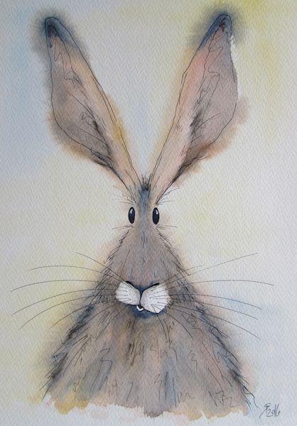 Becca Fielding Whimsical Art Bunny Art Art Painting