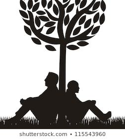Person Leaning Against Tree Drawing Pesquisa Google Stock Foto Logotipo