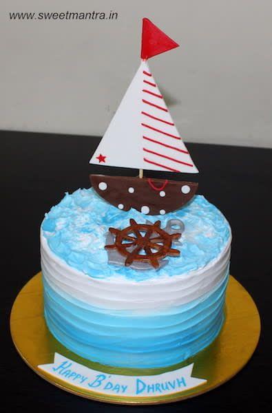 Ship Sailor Theme Customized Fresh Cream Cake For Indian Navy Officer S Birthday By Sweet Mantra Customized 3d Cakes Designer Wed Cake Cream Cake Fresh Cream