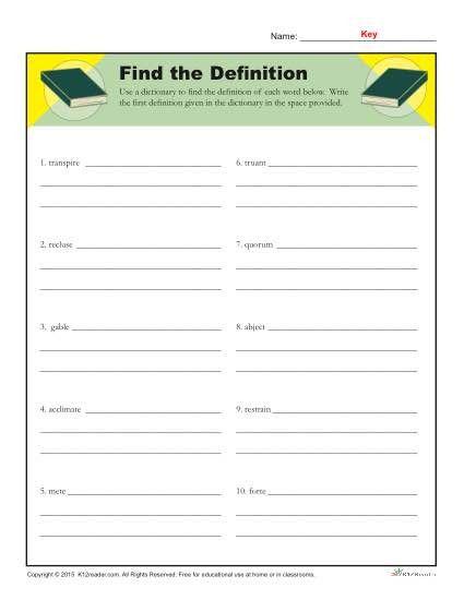 Dictionary Skill Worksheets 3rd Grade Dictionary Skills Worksheets In 2021 Dictionary Skills Preschool Number Worksheets Kindergarten Math Review Worksheets Dictionary skill worksheets 3rd grade