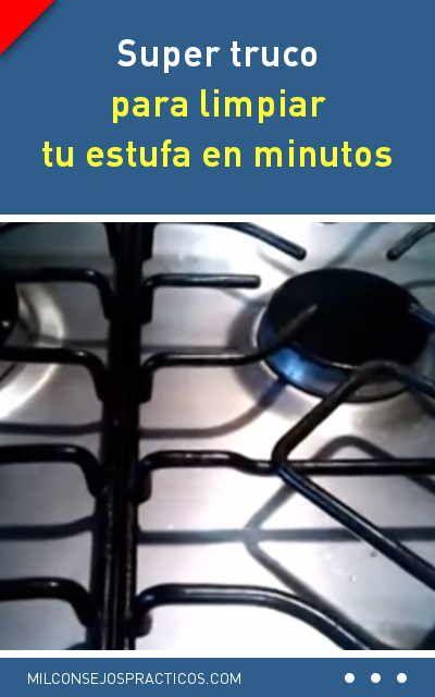 trucos para limpiar quemadores cocina