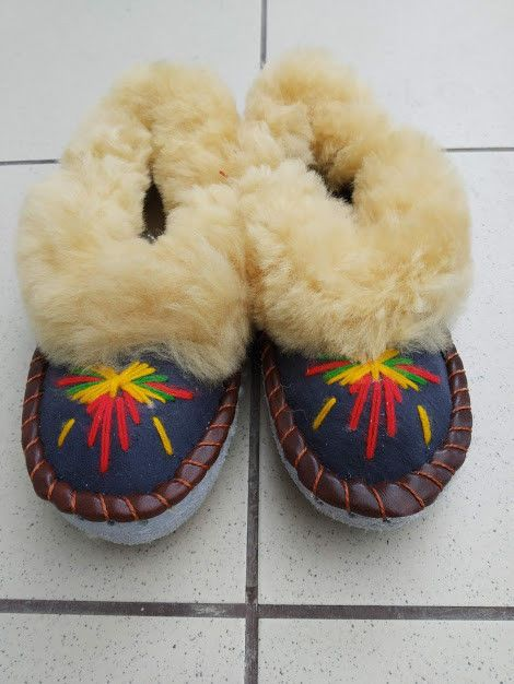 8ac146bb04df Cozy Warm Woman Polish Leather Sheepskin Wool Moccasin Slippers Room ...