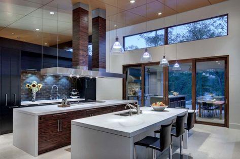 ▷ 1001 + ideas de decoración de cocina americana Cocinas casa de campo Disenos de unas y Cocina contemporánea