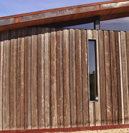 Reclaimed Wood Siding From The Backside Of Wyoming Snow Fence Has A Beautiful Cinnamon Accent Color Reclaimed Wood Siding Wood Reclaimed Wood