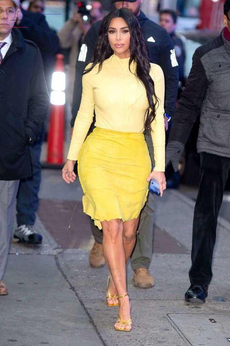 Kim Kardashian - Outside Good Morning America in New York Kim Kardashian in Yellow Dress - Good Morning America in New York 05-02-2020... –  #KimKardashian #celeb #celebrity #awesome #nice #fashion #girl #london #dish #breakfast #photo #nyc #ny #boot #hair #nail #dress #red #pink<br>