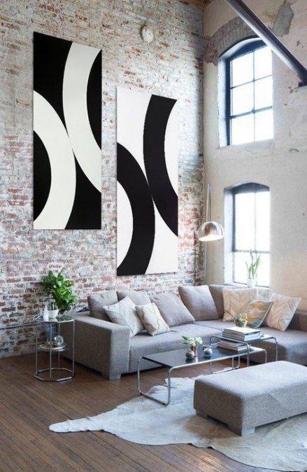 44 Ideas Painting Modern Canvas Black White Original Wall Art Diy Canvas Art Interior Design