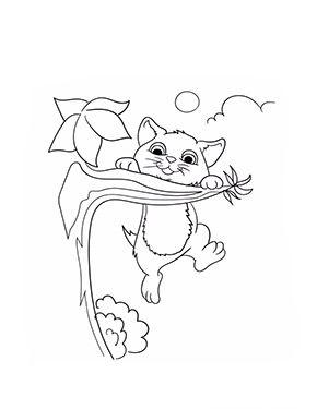 Ausmalbild Katze Hangt Am Ast Zum Ausmalen Ausmalbilder Malvorlagen Katze Ausmalbilderkatze Kindergar Ausmalbilder Katzen Ausmalen Ausmalbilder