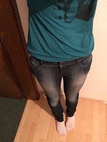 Jeans Hose Gr. 38 / 40 Blau Damen Waschung