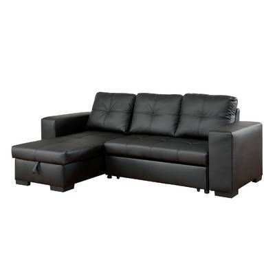 Becker Leather Sleeper Sectional Leather Sectional Sofas