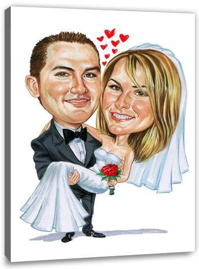 Karikatur Vom Foto Zur Hochzeit Karikatur Vom Foto Karikatur Hochzeitsgeschenk