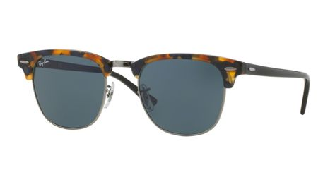 733b13aae Ray-Ban RB3016-1158R5 Spotted Blue Havana Clubmaster Sunglasses