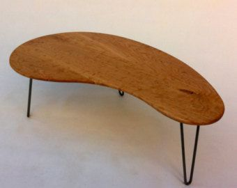Boomerang Coffee Table Etsy Table Solid Wood Table Hardwood