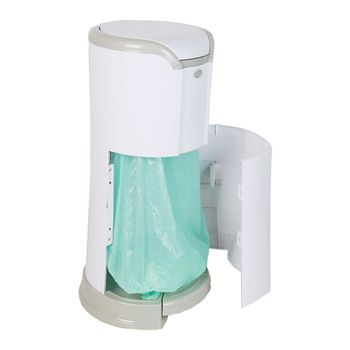 Plastic 25 Liters Oval Baby Diaper Pail Smart Pedal Dustbin ...