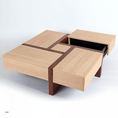 Table Basse Bois Avec Pouf New Table Basse Carree Avec Pouf Maison
