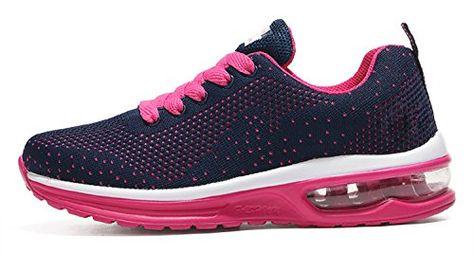 b8a29824c40 Mixte Adulte Chaussures de Multisports OutdoorChaussures de Course Sports  Fitness Gym athlétique Baskets Sneakers(EU 41Rose)