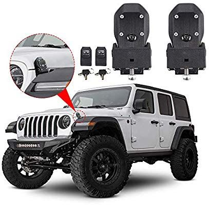 Hood Latches Hood Lock Catch Latches Kit Anti Theft For Jeep Wrangler Jl Sports Sahara Freedom Rubicon 2018 2019 Black Save Wrangler Jl Jeep Promo Codes