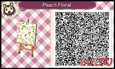 Animal Crossing New Leaf Peach Floral Wallpaper Or Bedding Tablecloth In 2020 Animal Crossing Animal Crossing Qr Leaf Animals