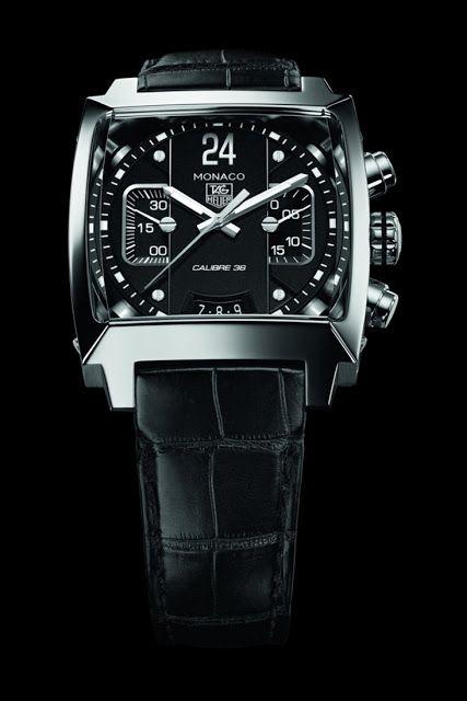 Tag Heuer Monaco Twenty Four Calibre 36 Chronograph black dial