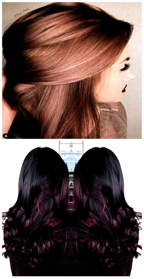 Hair color ideas for brunettes balayage rose gold dark brown 62+ New ideas #hair ...#balayage #brown #brunettes #color #dark