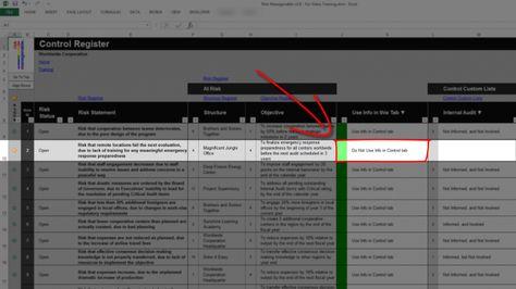 Risk Template in Excel - Risk Heat Maps or Risk Matrix Control - sample quantitative risk analysis