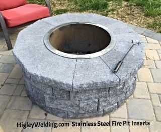 Stainless Steel Fire Pit Ring Liners Inserts Spark Screens Metal Covers Kostyor