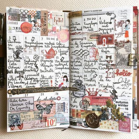 September #midori #midoritravelersnotebook #planner #happyplanner #snailmail #mailart #letters #scrapbooking #sendmoremail #collage #collageart #stickers #stamping #stamp #ephemera #stationery #sealwax #waxseal #twsbi #lettering #memories #travel #travelgram