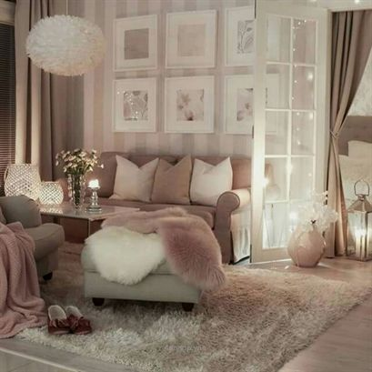Blush glam living room…