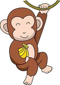 white headed capuchin monkey clip art proyecto los monos y su rh pinterest co uk free clipart monkey eating banana