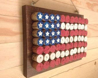 Wine Cork American Flag Painted cork screws - cork screws - Wine Cork Project 15 Genius Handmade Wine Cork Craft Ideas You Can DIY In No Just in Wine Craft, Wine Cork Crafts, Wine Bottle Crafts, Crafts With Corks, Patriotic Crafts, July Crafts, Crafts For Boys, Diy And Crafts, Decor Crafts