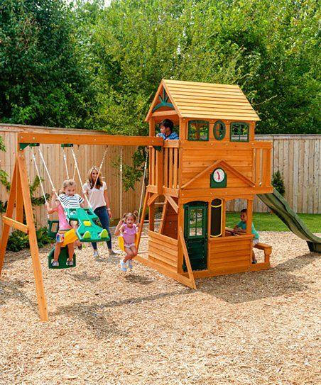 Kidkraft Ashberry Wooden Play Set Zulily Wooden Swing Set Wooden Playset Wooden Swings