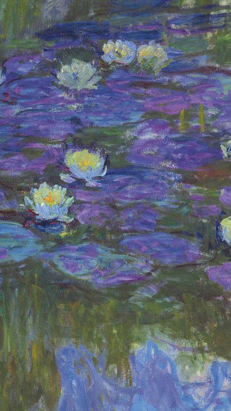 you're art, darling - claude monet hd lockscreens like or. Les Nénuphars Monet, Claude Monet, Aesthetic Painting, Aesthetic Art, Monet Paintings, Abstract Paintings, Landscape Paintings, Painting Wallpaper, Monet Wallpaper