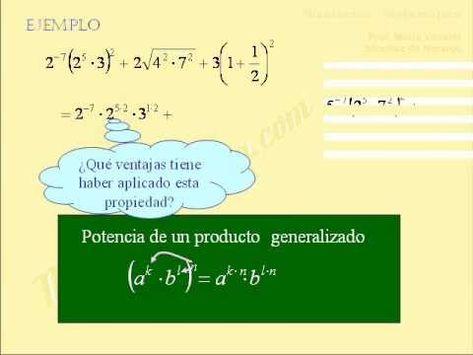Operaciones Combinadas Con Potencias Y Radicales Estrategías Ejercicios Raiz Cuadrada Matematicas