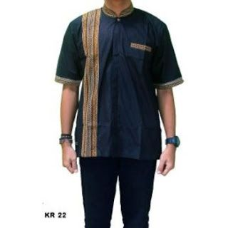 Baju Koko Batik Kombinasi Polos Lengan Panjang Dan Pendek Terbaru Di