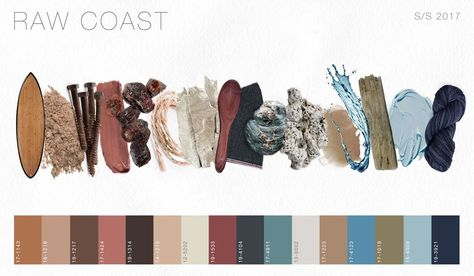 Spring Summer 2017 Color Direction - Raw Coast palette by Fashion Snoops.