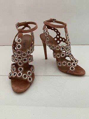 ALAIA Studded suede stiletto sandals