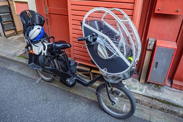Bicycle With A Children S Seat Bike For Transporting Kids Life