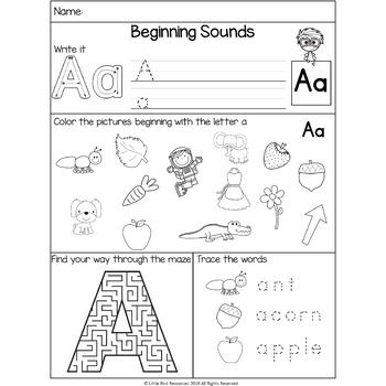 No Prep Alphabet Beginning Sounds Mixed Worksheets Beginning Sounds Kindergarten Beginning Sounds Beginning Sounds Worksheets Free beginning sounds worksheets for