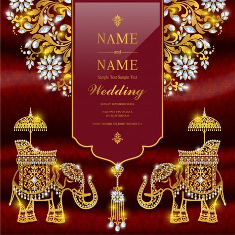 Wedding invitation card templates. Premium Vector