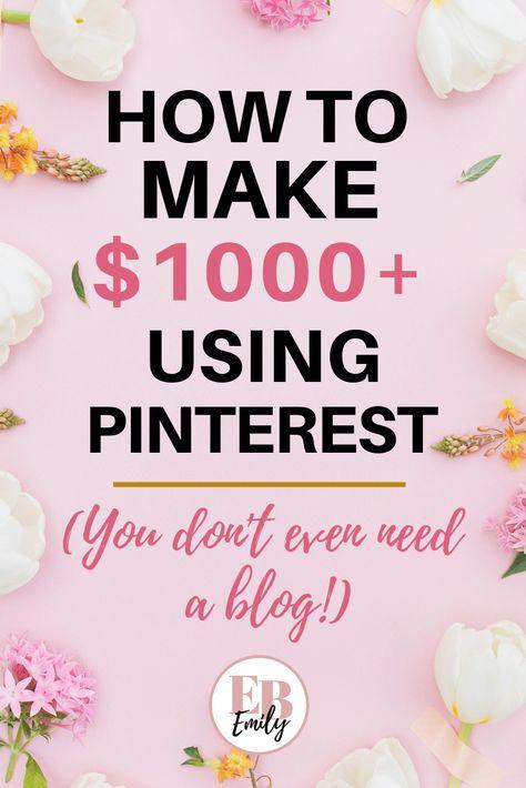 10 ways to make $1500 on Pinterest FAST
