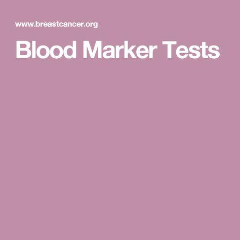 Blood Marker Tests