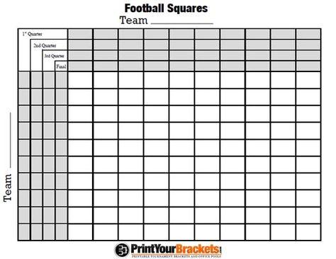 Football Pot Template Google Search Superbowl Squares Super