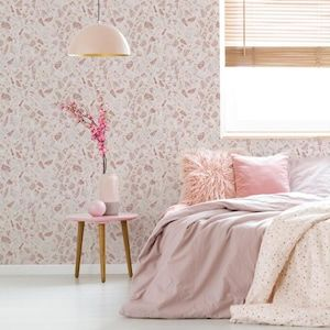 Tempaper 28 Sq Ft Rose Vinyl Stone Self Adhesive Peel And Stick Wallpaper Lowes Com Removable Wallpaper Pink Accent Walls Terrazzo