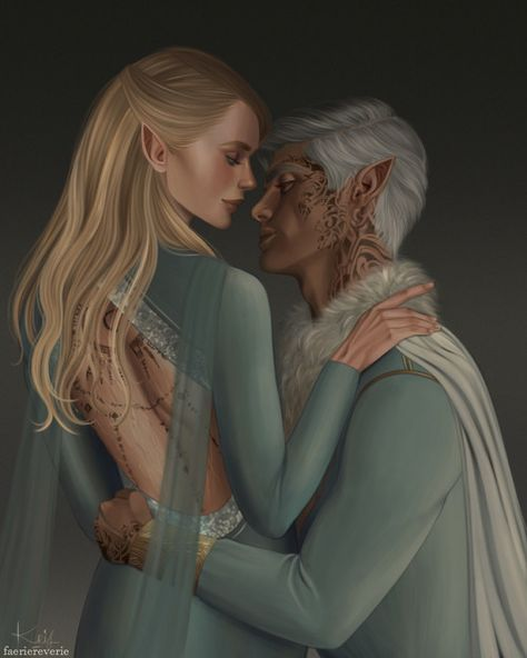 "faeriereverie:""Rowaelin.Click here for Lucien!!!KOA IS COMING OUT SOON AND I THOUGHT THAT IT'D BE A GOOD IDEA TO PAINT ROWAELIN SKDJALKSJDKALSD."""
