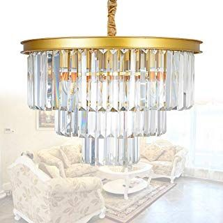 Amazon Com Crystal And Gold Chandelier Gold Tools Home